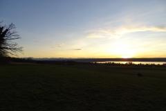 Aussicht Breitbrunn bei Sonnenuntergang