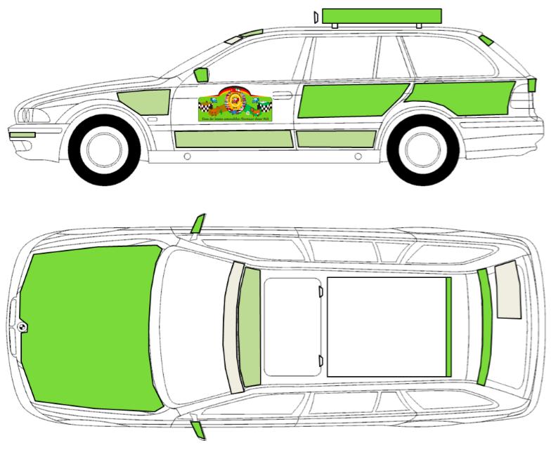 Werbeflächen BMW 5er Touring E39