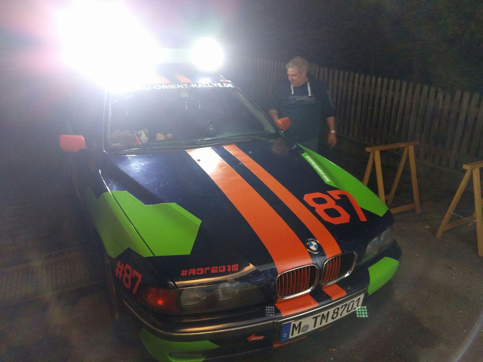 Team Propellerheads 87 Thomas Ebert Manfred Schamper Rallye Auto Zusatzscheinwerfer