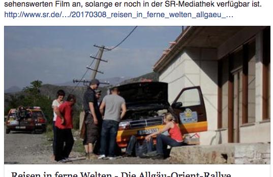 SR-Doku: Allgäu-Orient-Rallye 2012